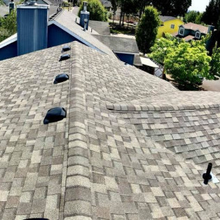 light brown shingle roof in portland oregon